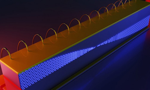Illustration of the inside of an infrared frequency comb in a quantum cascade laser